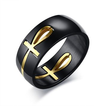 Goddess Bast Egyptian Ankh Ring