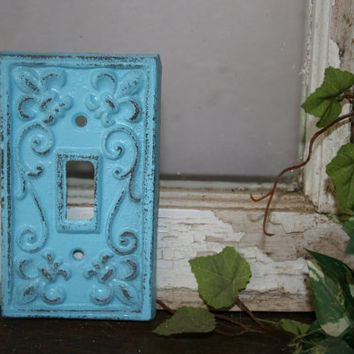 Choose your color -  light switch cover / metal  / electrical covers / light switch covers / shabby chic /  light switch plates