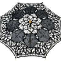 "22"" Black Lace Parasol Umbrella"