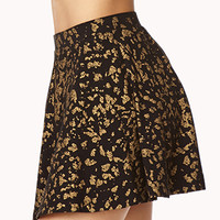 Girly Metallic Skater Skirt