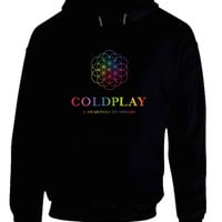 Coldplay A Head Full Of Dreams Title And Logo Be One Colorize Hoodie