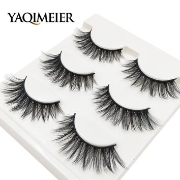 YAQIMEIER 3d False Eyelashes Hot 3D15 Handmade Faux Mink Lashes Charming Long / Messy /Thick /Cross Lashes Women Makeup & Beauty