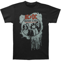 AC/DC Men's  Highway Tour '79 Slim Fit T-shirt Black Rockabilia