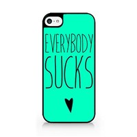 Everybody Sucks - I Hate Everyone - Funny Quotes - Sassy Quotes - Hipster - Swag - iPhone 5C Black Case (C) Andre Gift Shop