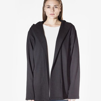 French Terry Shawl Collar Hoodie in Black: WMNS