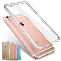 Luxury Transparent Back Cover i Phone case for iphone 6 6s  + Nice gift box!
