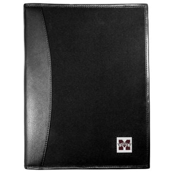 Mississippi St. Bulldogs Leather and Canvas Padfolio CPAD45