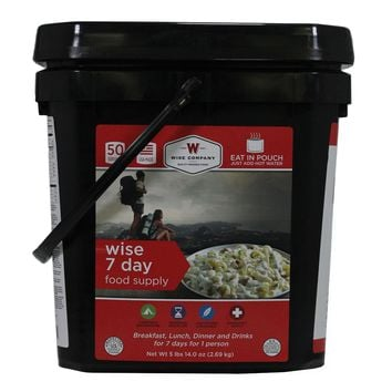 Wise Ultimate Emergency Kit - 7 Day Food Supply Bucket Camping Pouches