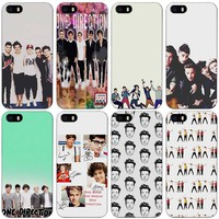 One Direction 1D Black Plastic Case Cover Shell for iPhone Apple 4 4s 5 5s SE 5c 6 6s 7 Plus