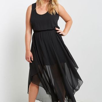 Tango Chiffon Flounce Dress Plus Size