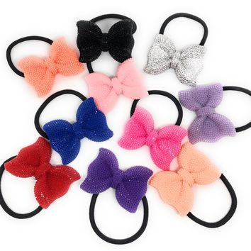 Sparkle Bow Hair Tie