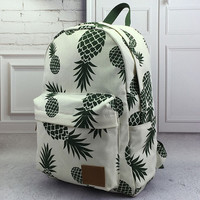 Unique Pineapple Printed Backpack Gift