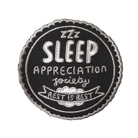 Sleep Appreciation Society Woven Patches | Veronica Dearly