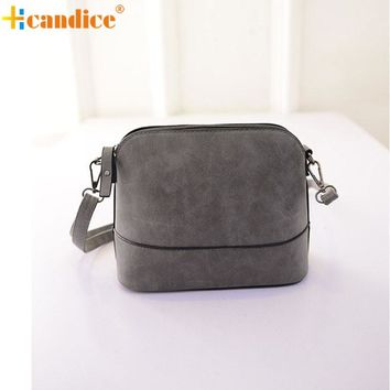 Naivety Women messenger Bag Small Handbag Faux Nubuck Leather Scrub Shell Bags Lady Shoulder Purses New Fashion JUN23 drop shipp