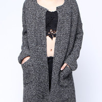 'The Cara' Gray Long Sleeve Knitted Cardigan