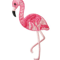 Bird Flamingo Animal Applique Embroidered Iron On Patch