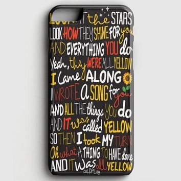 Coldplay Yellow iPhone 7 Case