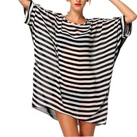 Striped Swimsuit Cover Up