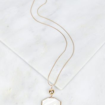 Marble Geometric Necklace