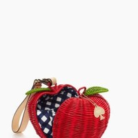 pack a picnic apple wristlet - kate spade new york