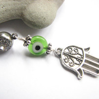 Belly Button Jewelry, Hamsa Hand Evil Eye Belly Navel Ring