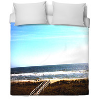 Amazing North Carolina Coast Line Bed Spread