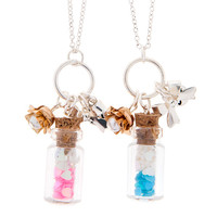 Pink and Blue Bottle Best Friend Necklaces