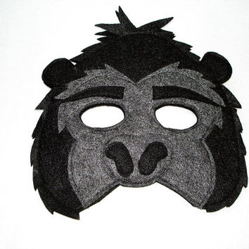Children's Jungle Animal GORILLA Felt Mask
