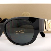 Brand New VERSACE Sunglasses VE 4265 GB1/87 BLACK/GRADIENT GRAY Women