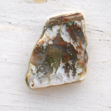 Plume Agate Preform or wire wrapping stone, can also be drilled, Linda Marie Plume Agate, comes from Nevada, untreated natural stone, OOAK
