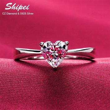 Hearts & Arrows Solitaire Ring