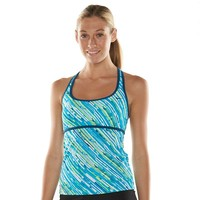 Nike Striped Racerback Tankini Top - Women's, Size: