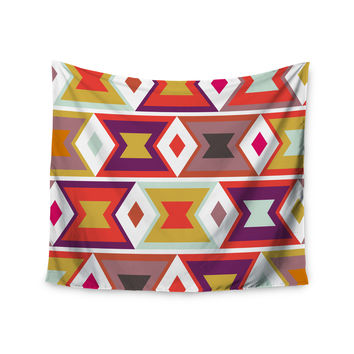 "Pellerina Design ""Aztec Weave"" Orange Purple Wall Tapestry"