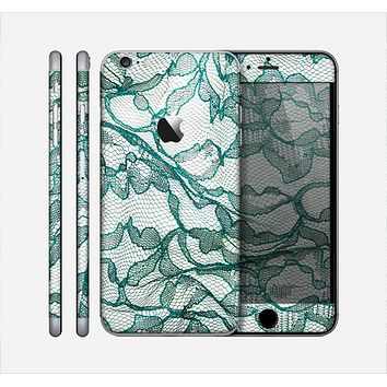 The Gentle Green Wrinkled Lace Skin for the Apple iPhone 6 Plus