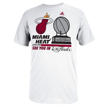 Miami Heat adidas 2014 NBA Eastern Conference Champions Trophy Locker Room T-Shirt - White