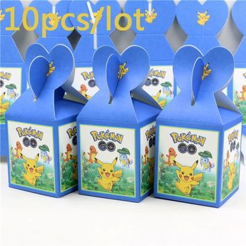 Kids Favors Decoration Party Pikachu Theme Candy Box Baby Shower Cupcake  go Gifts Boxes Paper Birthday Events SuppliesKawaii Pokemon go  AT_89_9