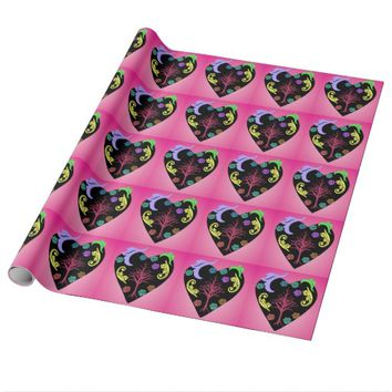 colorful heart wrapping paper