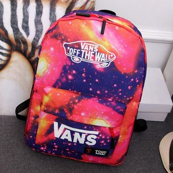 VANS College feng men and women school backpacks young lovers pack leisure sports bag