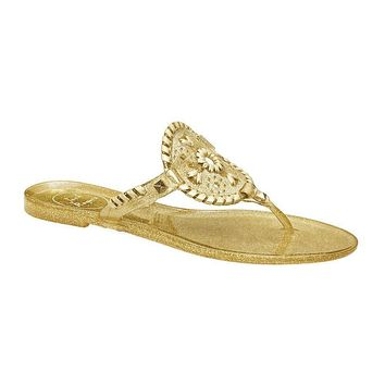 Sparkle Georgica Jelly Sandal in Gold by Jack Rogers