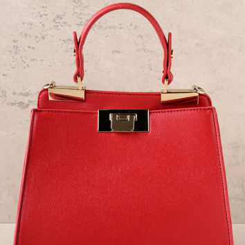 Candy Apple Red Handbag
