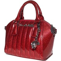 Lux De Ville Mini Lady Vamp Tote Venom Red Sparkle