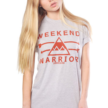 Weekend Warrior T-Shirt - Red/Gray