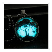 Glow in the Dark Tree of Life Pendant Necklace Save 58%!