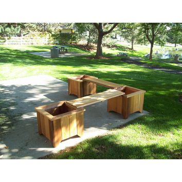 Wood Country T&L Cedar Planter Box and Bench Set