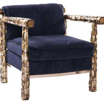 Ani Lounge Chair, Navy, Club Chairs