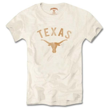 47 Brand Texas Longhorns Women's White Vintage Scrum T-Shirt
