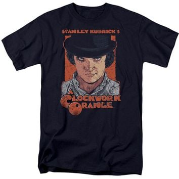 A Clockwork Orange Men's  Sinister Stare T-shirt Navy