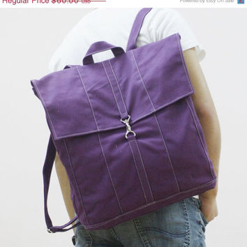 CHRISTMAS in JULY SALE Fitt in Purple - Backpack / Rucksack / Satchels / Tote / Laptop / School bag / Men / Women / For Her / For Him