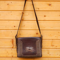 Handmade designer's leather bag