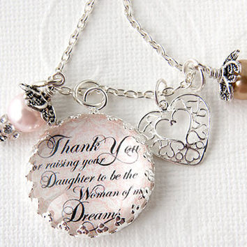 Mother Of The Bride Necklace Groom To In Law Gift Mot